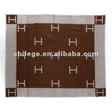 jacquard cahsmere woven bed throws/blankets