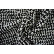 Trois différents styles de tissu de laine noir et blanc