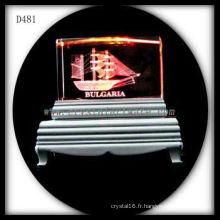 K9 3d laser sous-surface image gravé coloré cristal
