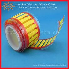 Impressão de tubo amarelo termoencolhível