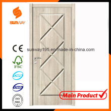 Puerta de madera sana verde del boutique del nuevo diseño con Ce
