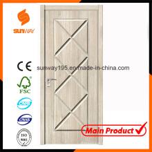 Nova porta de madeira de design verde e verde com Ce