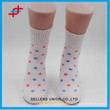 2015 summer student's cotton&poly blends sock multicolored