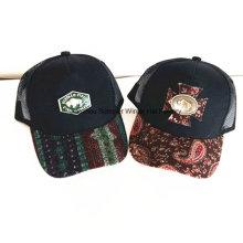Gorra de béisbol del deporte de la tela cruzada del algodón del bordado de la manera