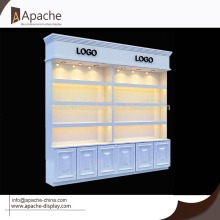 Wooden Cosmetic Tall Display Stand
