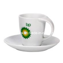 Bend Handle Caneca de café e prato
