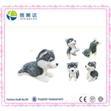 Suave Pequeña Perro Lifelike Huskie Plush Doll