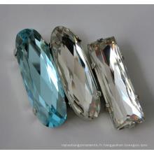 Perles de cristal pour vêtement, Décoration pour artisanat, Robe de mariée
