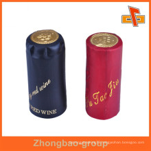 China supplier water proof heat sensitive attractive customizable shrinkable wine bottle neck label with your printing