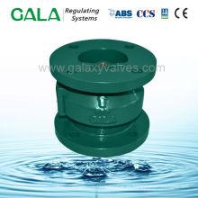 Válvula de retención de aguas residuales tipo globo inoxidable