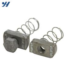 Écrous de canal de matériaux de construction en acier galvanisés par zinc, écrou de ressort, écrou