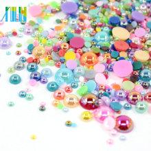 Cuentas de perlas planas de plástico a granel FP02