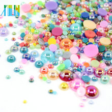 Bulk plastic flat back pearls beads FP02