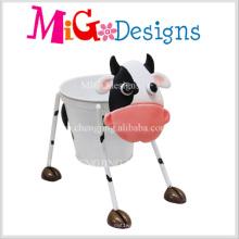 Custom Wholesale Yellow Cow Shaped Metal Pot