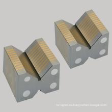 Bloques V Permanentes Mandril Magnético