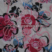 Rope Embroidery in Printing Fabric