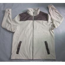 Yj-1069 chaqueta de Softshell respirable impermeable del paño grueso y suave de los muchachos de los hombres