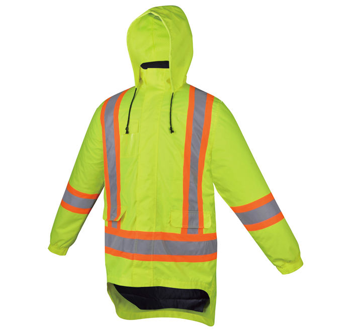 Fluorescent jaune Construction Salut Vis Jacket