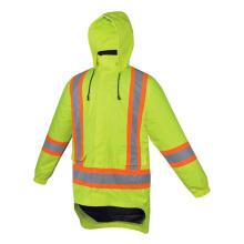 Fluorescent Yellow Construction Hi Vis Jacket