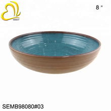 Japanese Style Ramen bowl wooden bowl soup bowl with handle melamine For Sell