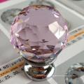 Розовый стакан хрустальный шар ручки толчок тянуть ручки оптом