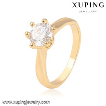 13948 xuping fashion finger 18k gold weeding rings with stone