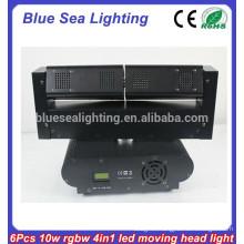 6 x 10W RGBW 4in 1 led moving led bar beam