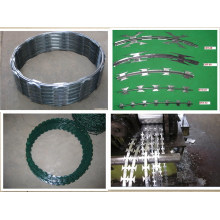 PVC revestido Glvanized Iron Razor arame farpado