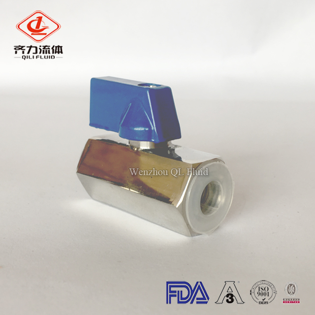 sanitary stainless steel female mini ball valve 4