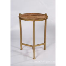 Copper Finish Side Table
