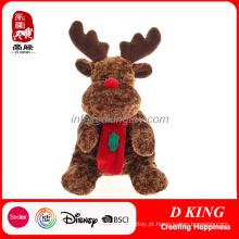 Bichos de pelúcia da rena do brinquedo do luxuoso dos presentes do Natal