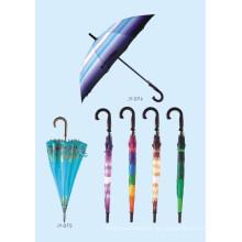 Auto Open Bunte Druck Straight Umbrella (JY-075)