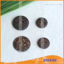 Botões naturais de coco para vestuário BN8036