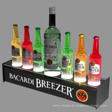 Custom Wine Store Advertising Acrílico Table Top 7 Garrafas Led Iluminado Garrafa Beer Display Stand
