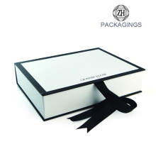 Luxury+ribbon+enclosure+book+shape+packaging+box