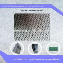 Aire acondicionado de malla de pesca de esponja de filtro de carbón activado