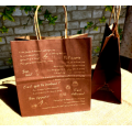 Brown Kraft Paper Bag with Handles High Quality Custom Coffee Bags Shopping Paper Bag