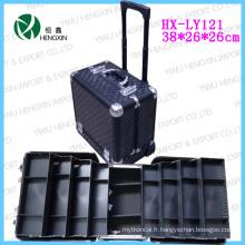 Boîtier cosmétique en aluminium panneau noir et cadre (HX-L0928)