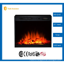 "SALE 23"" classic insert wood fireplace electrical"