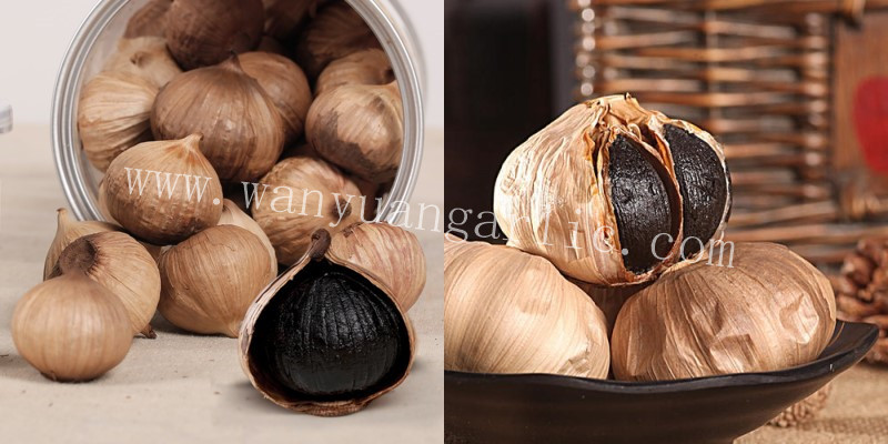 black whole garlic