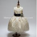 2017 neue Design kurze Design Kinder Polka Dot sleeveless Mädchen Prinzessin Kleid mit Bogen