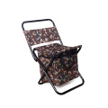 Fashion outdoor lightweight folding camping chair easy carry durable fishing chair with cooler bag
