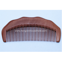 Half Moon Shaped Toothed Healthy Hair Care Peach Wood Comb