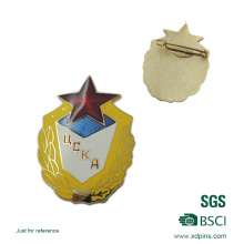 Customized 4 Colour Process Pin for Ecole Administration (XD-B53)