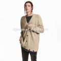 Novo design casual cardigan oversized para homens