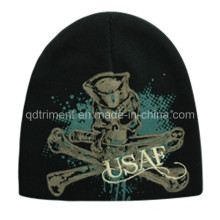 Акриловая печать вышивка теплый спортивный лыжный трикотажная шапочка (TRK003B)