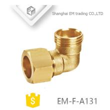EM-F-A131 encaixe de tubulação do cotovelo conector de latão rápido rosca macho