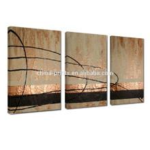 Pintura al óleo abstracta pintado a mano / 3 Pannel Pintura al óleo hecha a mano / arte decorativo de la lona para la pared