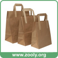 Eco-Friendly Brown Natural Kraft Paper Gift Bags with Flat Handles