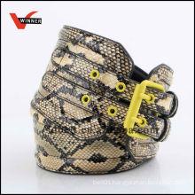 Fake Snake Skin Pattern PU Belts